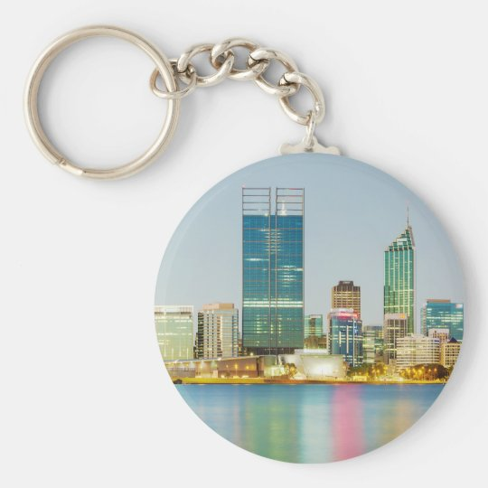 Perth CBD from Mill Point Perth Western Australia Keychain