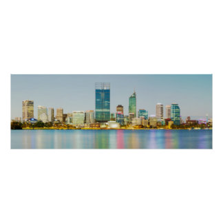 Perth CBD from Mill Point Perth Western Australia Poster