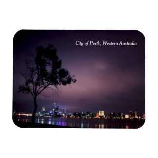 Perth City Lights from South Perth Foreshore Rectangular Photo Magnet
