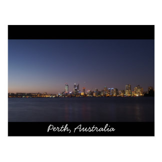 Perth city skyline postcard