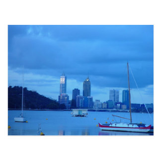 Perth Skyline From Swan River Foreshore Near Unive Postcard