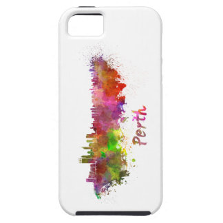 Perth skyline in watercolor iPhone SE/5/5s case