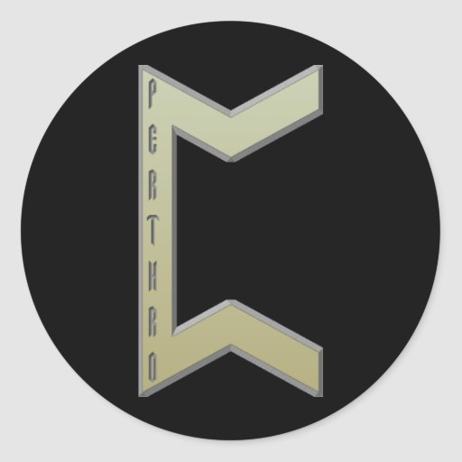Pertho Rune gold Sticker