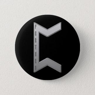 Pertho Rune grey Button