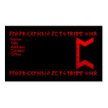 Pertho Rune red Business Card Template