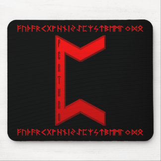 Pertho Rune red Mouse Pad