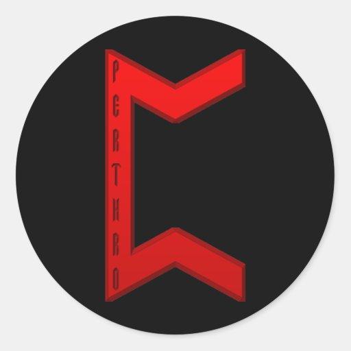 Pertho Rune red Sticker