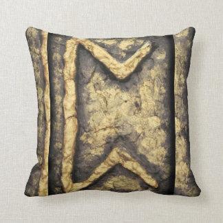 Perthro P Throw Pillows