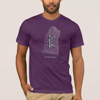 Perthro rune symbol on west Rok runestone T-Shirt