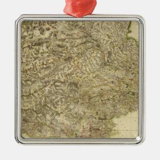 Perthshire compuesto adorno navideño cuadrado de metal