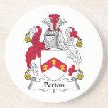 Perton Family Crest Coaster