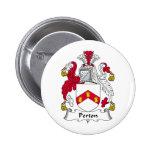 Perton Family Crest Pinback Button