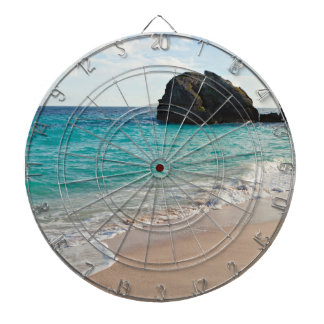 Pertty beach Turquoise Ocean Dartboard With Darts