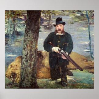 Pertuiset, cazador del león, 1881 póster
