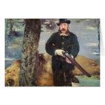 Pertuiset, cazador del león, 1881 tarjeta de felicitación