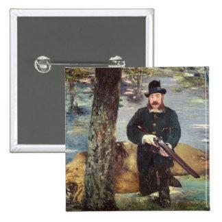 Pertuiset, Lion Hunter, 1881 2 Inch Square Button