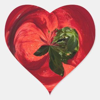 Pertunia Sphere Heart Sticker