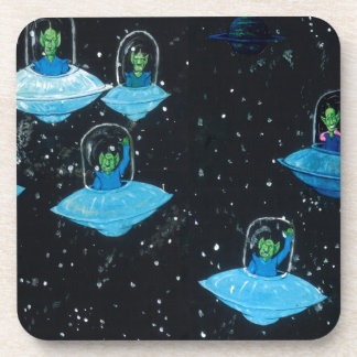 Perturbed Martians and some Cows Beverage Coaster