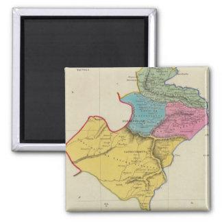 Perú 19 imán cuadrado
