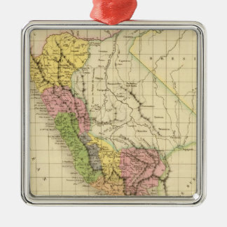 Perú 20 adorno navideño cuadrado de metal