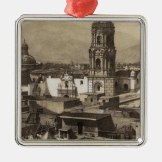 Perú 28 adorno navideño cuadrado de metal