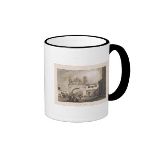 Peru 32 ringer coffee mug