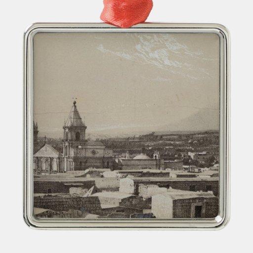 Perú 3 ornamento para arbol de navidad