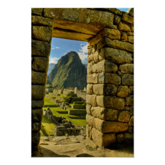 Peru, Andes, Andes Mountains, Machu Picchu, Poster