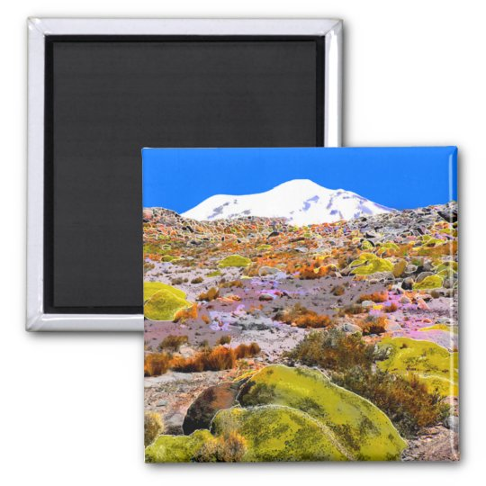 Peru Andes Mountain View #1 Magnet