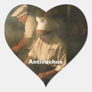 Peru - Anticucheria en la Calle Heart Sticker