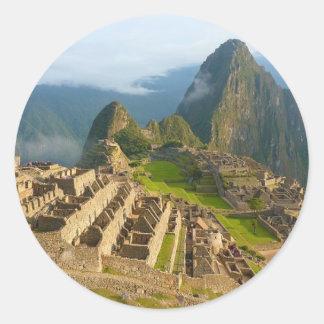 Peru Architecture Classic Round Sticker