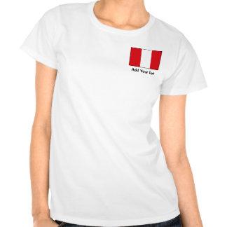 Perú - bandera peruana camisetas