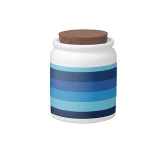 peru blue candy dish
