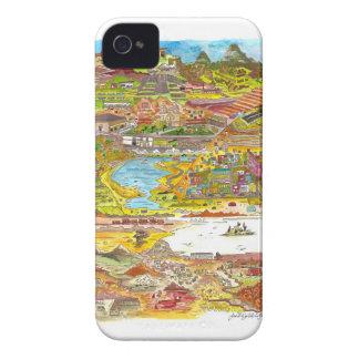 Peru & Bolivia (Blackberry) iPhone 4 Cover