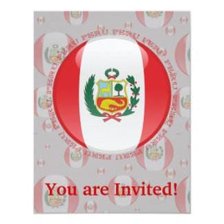 Peru Bubble Flag Card
