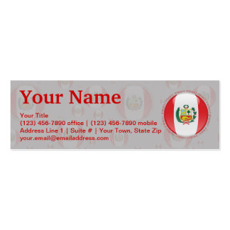 Peru Bubble Flag Double-Sided Mini Business Cards (Pack Of 20)