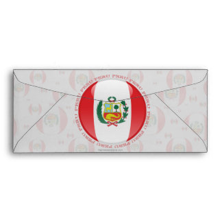 Peru Bubble Flag Envelope