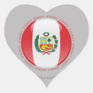 Peru Bubble Flag Heart Sticker