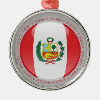 Peru Bubble Flag Metal Ornament