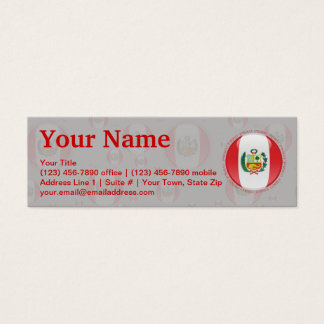 Peru Bubble Flag Mini Business Card