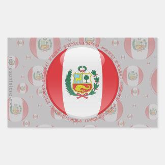 Peru Bubble Flag Rectangular Sticker