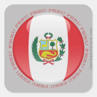 Peru Bubble Flag Stickers