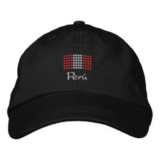Peru Cap - Peruvian Flag Hat Embroidered Baseball Caps