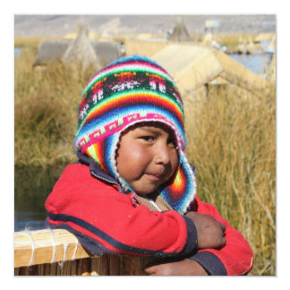 Peru Child - Boy Card