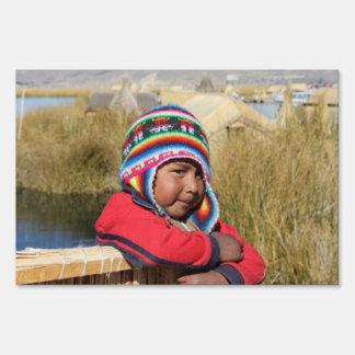 Peru Child - Boy Yard Sign