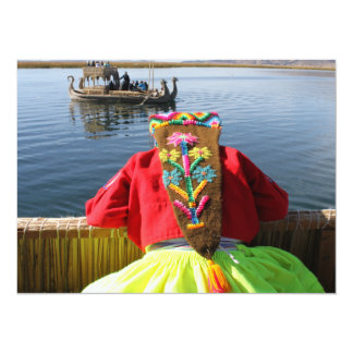 """Peru Child - Girl 5.5"""" X 7.5"""" Invitation Card"""