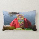Peru Child - Girl Lumbar Pillow