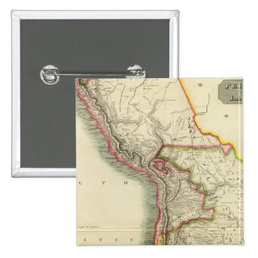 Perú, chile, La Plata 2 Pin Cuadrado