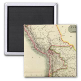 Peru, Chili, La Plata 2 2 Inch Square Magnet