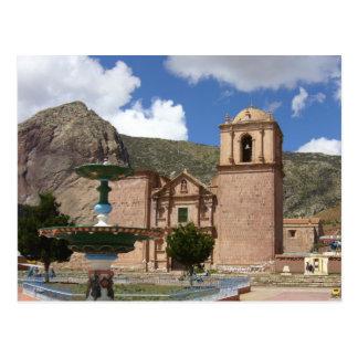 peru church postcard